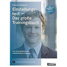 Einstellungstest - Das große Trainingsbuch: Alle Testverfahren mit ausführlichen Lösungen