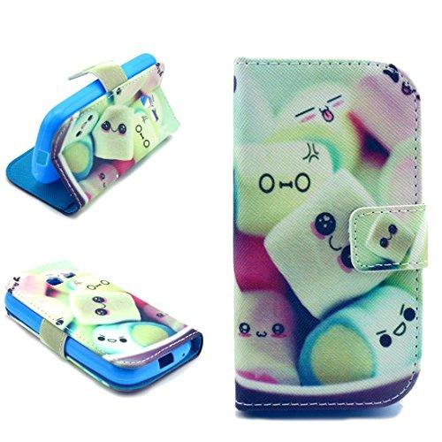 Coque en Cuir pour Samsung Galaxy Trend Lite S7390 / S7392 - Aohro Wallet Book Style Stand Cover Case Flip Portefeuille Housse Etui avec Card Slots + Stylus Pen--Style 08