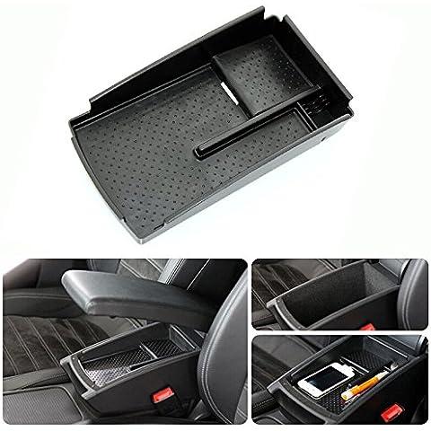 Apoyabrazos consola central Secundaria Caja de almacenamiento bandeja Utilidad Fit Volkswagen Passat B6B7L B7CC