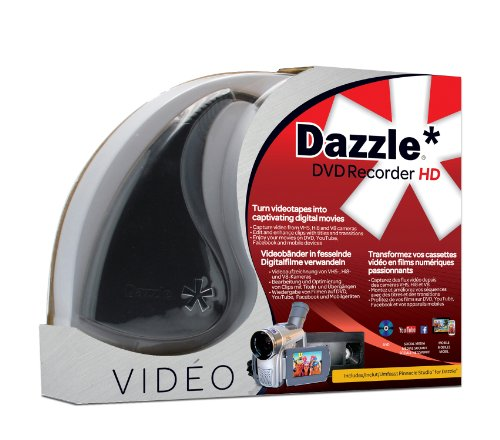 Corel Dazzle DVD Recorder HD dispositivo para capturar video Interno USB 2.0 - Capturadora de vídeo (Windows 10 Education,Windows 10 Education x64,Windows 10 Enterprise,Windows 10 Enterprise..., DirectX 9+ DVD-Rom, 3000 MB, Intel Core Duo 1.8GHz/AMD Athlon 64 X2 3800+ 2.0GHz+, 2048 MB)