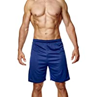 Athletic Sportswear Mens Jogging Running Football and Gym Sports Shorts Comfortable and Breathable Wicks Moisture Away…