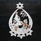 Fensterbild Original Erzgebirge Weihnachten Holz * viele verschiedene Motive * (Winterkind mit Baum)
