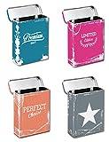 Bada Bing 4er Set Zigarettendose Zigarettenetui Zigarettenbox Hardcase Metall CP