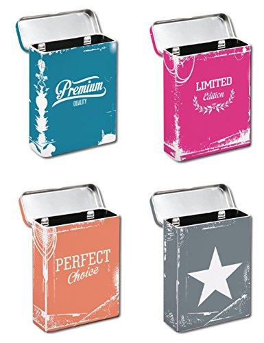 Bada Bing 4er Set Zigarettendose Zigarettenetui Zigarettenbox Hardcase Metall CP 3 Zigaretten-etui