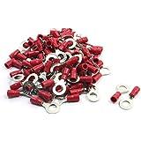100 piezas rv1, 25-6 pre-aislado anillo terminales para AWG 22-16 Cable de alambre