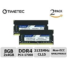Timetec Hynix IC 8GB Kit (2x4GB) DDR4 2133MHz PC4-17000 Unbuffered Non-ECC 1.2V CL15 1Rx8 Single Rank 260 Pin SODIMM Portatil Memoria Principal Module Upgrade (8GB Kit (2x4GB))