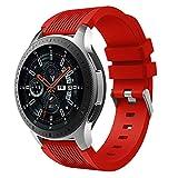 Holatee Correas de Reloj Correa de Pulsera Silicona Banda para Samsung Galaxy Watch 46mm Correa de Muñeca Repuesto