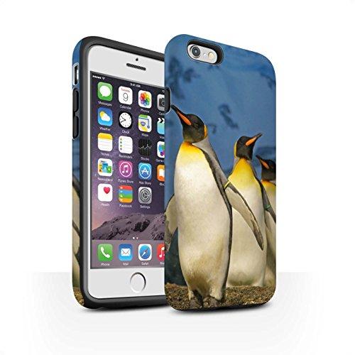 STUFF4 Matte Harten Stoßfest Hülle / Case für Apple iPhone 6 / Weiß Eisbär Muster / Arktis Tiere Kollektion König Pinguine