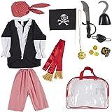 Piraten-Kostüm-Set für Kinder - 13-teiliges Piraten-Rollenspiel-Spielzeug-Set mit Bandana,...