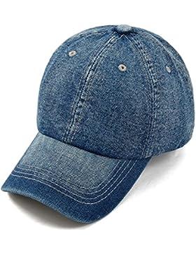 Gorra cap de béisbol mezclilla ajustable con bordada de algodón de estilo vintage unisex
