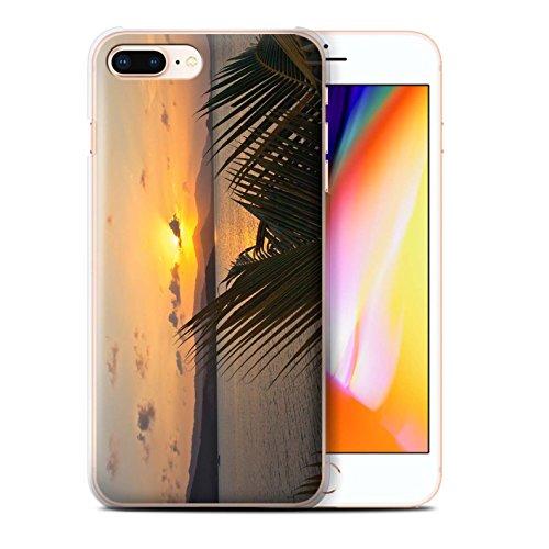 Stuff4 Hülle / Case für Apple iPhone 7 Plus / Blauer Himmel Muster / Sonnenuntergang Kollektion Palmen