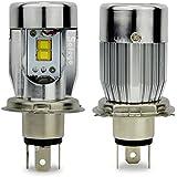 safego 50W H4Hi/Lo coche bombillas de Kit de faro LED de Alta bajo luces LED de motor Dual Beam 25W x22800lm x2Kit (c4-h4)