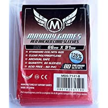 80 Mayday Games 66 x 91 Premium Red Backed Card Game Sleeves - Standard by Mayday Games