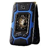 QHJ Dual Sim Outdoor Handy(1500mAh),1,8 Zoll Display,IP68 Wasserdicht,Stoßfest, Rugged Handy Ohne Vertrag mit Lautem Lautsprecher und Fahrradlicht ,TV-Empfang,Mp3/Mp4,One Key Anruf Antwort (Blau)