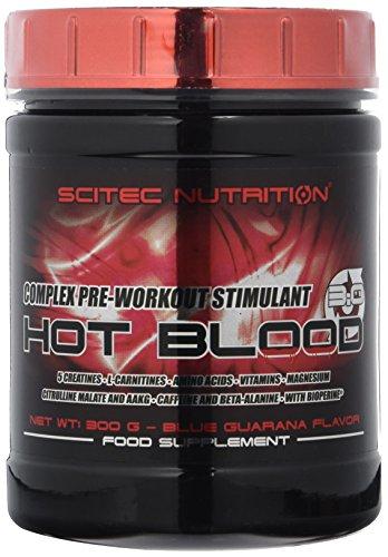 Scitec Nutrition Pre-workout  Hot Blood, Blue Guarana, 300 g -