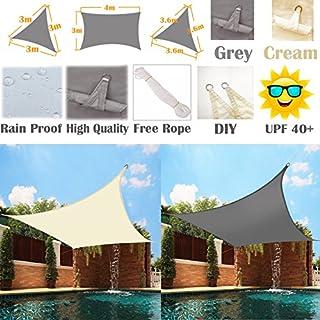 AutoFu Lampenschirm, Sonne, 98% UV-Block mit Tuch, für den Garten Terrasse Sonnenschutz Stollen Canopy Schutz-Vordach Dreieck/quadratisch/rechteckig