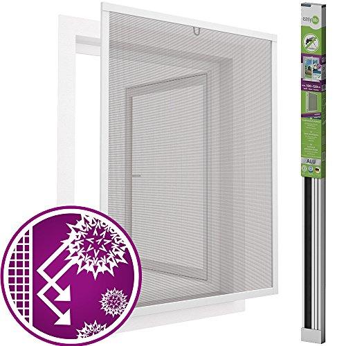 N/a Aluminium Filter (easy life Pollenschutz Alu Fenster ALLERGICpro 100 x 120 cm in Weiß Insektenschutz Fenster easyLINE Pollenschutzgitter und Fliegengitter)