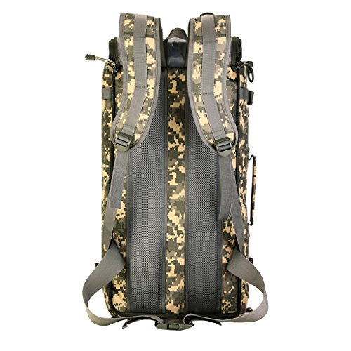MagiDeal Militärische Reisetasche Taktische Molle Reiserucksack 50L Backpack Sportrucksack Duffle Bag Wanderrucksack Trekkingrucksack Handtasche Schultertasche Umhängetasche ACU Camo