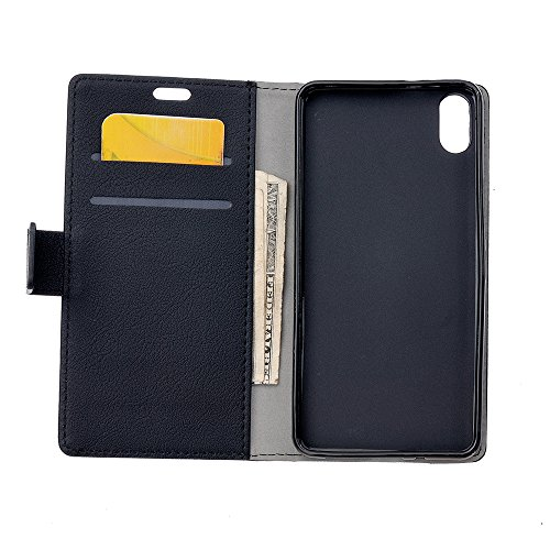 CaseforYou Hülle iphone X Schutz Gehäuse Hülse PU Leather Wallet Case with Flip Stand Function and Card Slots Magnetic Closure Cover Schutzhülle für iphone X Handy (White) Black