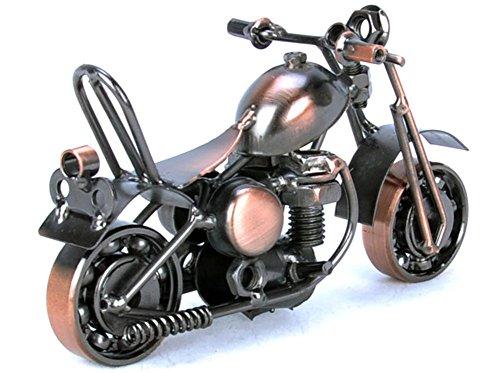 Yivans Creative Handwerk Schraubenmännchen handgefertigte Mini Motorradmodell Metall-Motorrad-Dekoration - Kupfer E