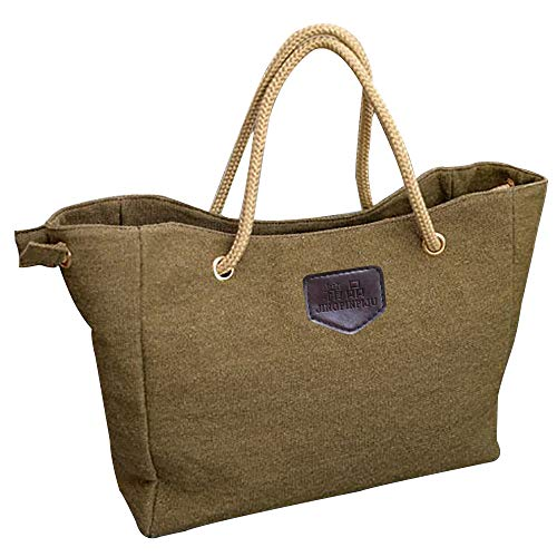 Calvinbi Tote Leinwand Shopper Canvas Einkaufstasche Tasche Einfach Einfarbig Schwarz Mode Weise Große Kapazität Handtasche Umhängetasche
