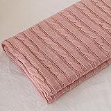 Weiche Flanelldecke für Erwachsene Kids Home Outdoor Reise TV Decke für Schlafsofa Stühle Decke (Color : Pink)