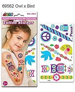 Avenir-Ave69562 Tatuaje Grande Buhos, Color Coloreado (1)