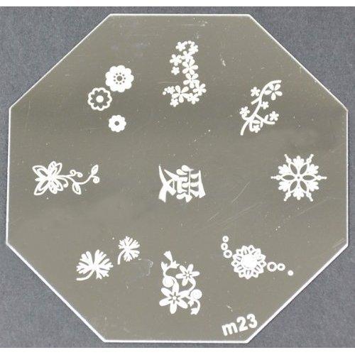 Nail Art emboutissage des tôles - M01 CODE : M23-plaque