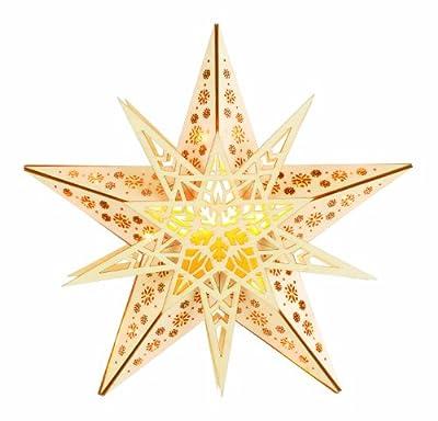 """TV Unser Original 0796020033 christmaxx LED-Weihnachtsstern """"Lichterzauber"""" aus Holz mit Lichterkette und Fernbedienung von Tv Unser Original - Lampenhans.de"""