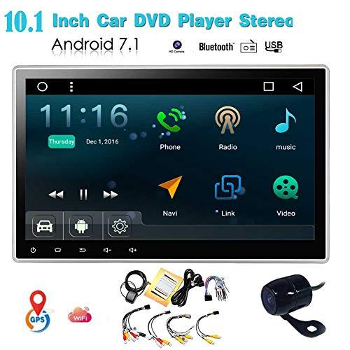 EINCAR Large 10,1-Zoll-Bildschirm Android 7.1 Nougat Autoradio Bluetooth Auto-Video-Audio-Player in Dash GPS Navigation WiFi Double 2 Lärm-Auto-Stereo ntertainment Hauptgerät-Unterstützungs-USB /