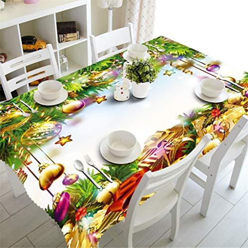 Mwpo tovaglia 3d ispessita antipolvere tavolo da pranzo copertura superiore decorazione per cucina natalizia varie dimensioni, 3, m
