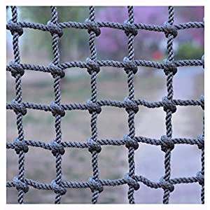 Climbing Netting,Climbing Net for Adults 8ft Climbing Kids Climb Wall Cargo Playground Rock Tree Adult 8x8 Nylon Rope Large Play Indoor Giant Mesh Heavy  Duty Climbing Net  Nets Netting Outdoor   15