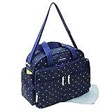 GMMHL 2 tlg Baby Farbe Wickeltasche Pflegetasche Windeltasche Babytasche Reise Farbauswahl (blau)
