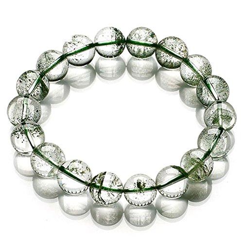 fantôme de bracelet vert naturel cristal/Vert fantôme cristal bracelets D