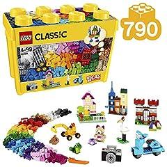 Idea Regalo - LEGO Classic - Scatola Mattoncini Creativi, Grande, 790 Pezzi, 10698