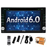 Eincar Car Radio DVD Player Android 6.0 Marshmallow Stereo System Universal Double din Capacitive Touch Screen 6.2inch Car DVD Player Support Bluetooth GPS Navigation Steering Wheel 1080P USB SD OBD2 Wifi 4G/3G Cam-in Include External Microphone