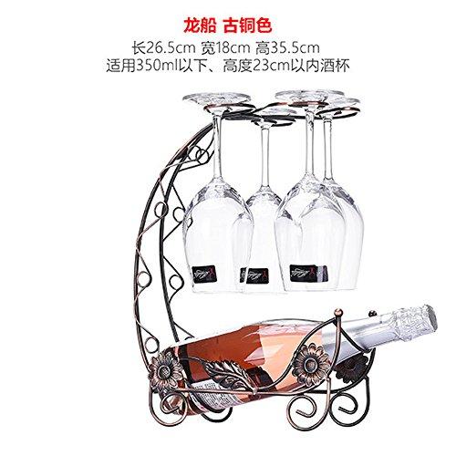 ZJWineracks Kreative moderne, minimalistische Weinzahnstangen Zeichnung wineglass Rack invertiert, mit Drachen Zeichnung Drachen