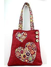 Borsa a spalla Handmade in Italy - Shopper San Valentino donna 1720f9054b7
