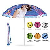Perletti Kinder Disney Soy Luna Sonnenschirm für Strand, Garten, Meer und Terrasse - Windfest für Mädchen - Durchmesser 125 cm - Hellblau - UV Schutz 50+