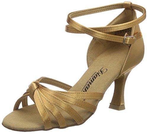 Diamant Diamant Damen Latein Tanzschuhe 109-087-087, Chaussures de Danse de salon femme Beige - Beige (Bronze)