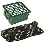 1 Filterset Hepa Filter H 12 grün + Kohlefilter passend für Vorwerk Kobold 130 + 131 + SC Staubsauger