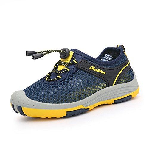 Outdoorsandalen Jungen Mädchen Sommer Strand Sport Schuh für Kinder Atmungsaktiv Trekking Sandalen Sneakers Wandersandalen Grün Blau 28-40 NBL40