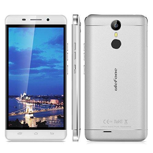 "Ulefone Metal - 4G Smartphone Libre Multitáctil Android 6.0 (Pantalla HD 5.0"", 1.3GHz MT6753 Octa Core, 3GB RAM 16GB ROM, 8.0MP Cámara, GPS, WIFI, Touch ID, Dual SIM) (Gris)"