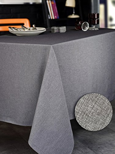 CALITEX BROME Nappe rectangulaire Polyester Gris 150x350