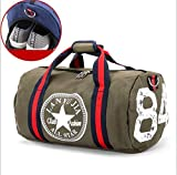 Canvas Damen Reisetasche Yoga Gym Bag Men Sport Pack Einheitsgröße grau