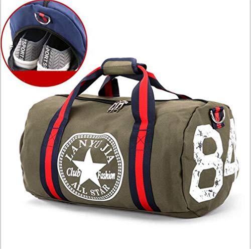 Canvas Damen Reisetasche Yoga Gym Bag Men Sport Pack Einheitsgröße grün