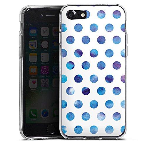 Apple iPhone X Silikon Hülle Case Schutzhülle Punkte Dots Wasserfarbe Silikon Case transparent