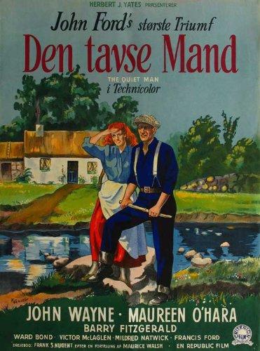 The Quiet Man Plakat Movie Poster (11 x 17 Inches - 28cm x 44cm) (1952) Danish