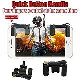Playerunknown Schlachtfelder,Binggong Eat Huhn Artefakt AUX Spiel Tastenkombinationen, Handy Mobile Gaming Trigger Fire Button Griff kompatibel mit L1R1