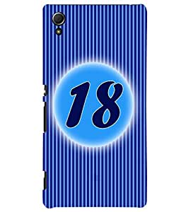 Fuson 3D Printed Numerology Designer back case cover for Sony Xperia Z3 Plus - D4236